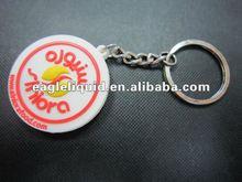 customized circle shape acrylic plastic soft pvc liquid keyring