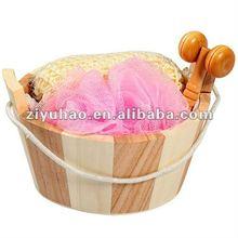 Natural Wooden Bath Set,Walmart PE Bath Flower,Face Messager