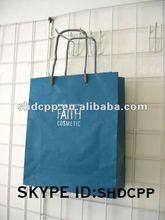 light blue kraft paper bag