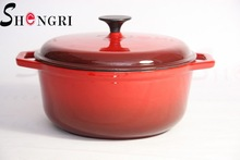 red cast iron and enamel pot with diameter 18,20,22,24,26cm