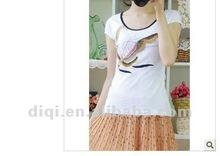 2013 korean style fashion o-neck short sleeve 100%cotton t shirt printing machine