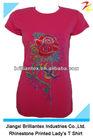 Fashion Bright Colored Cotton Short Sleeve Ladys T Shirt