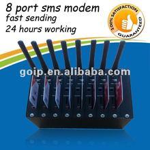 Wavecom Q2403 gsm bulk sms modem,8 port modem pool,modem gsm send receive sms