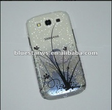 water drop flower printing design mobile phone back cover for samsung i9300 galaxy s3
