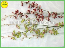 Única haste de seda Artificial Floral arranjo de plantas para casa e decoração do Hotel ( FB-F1458 )
