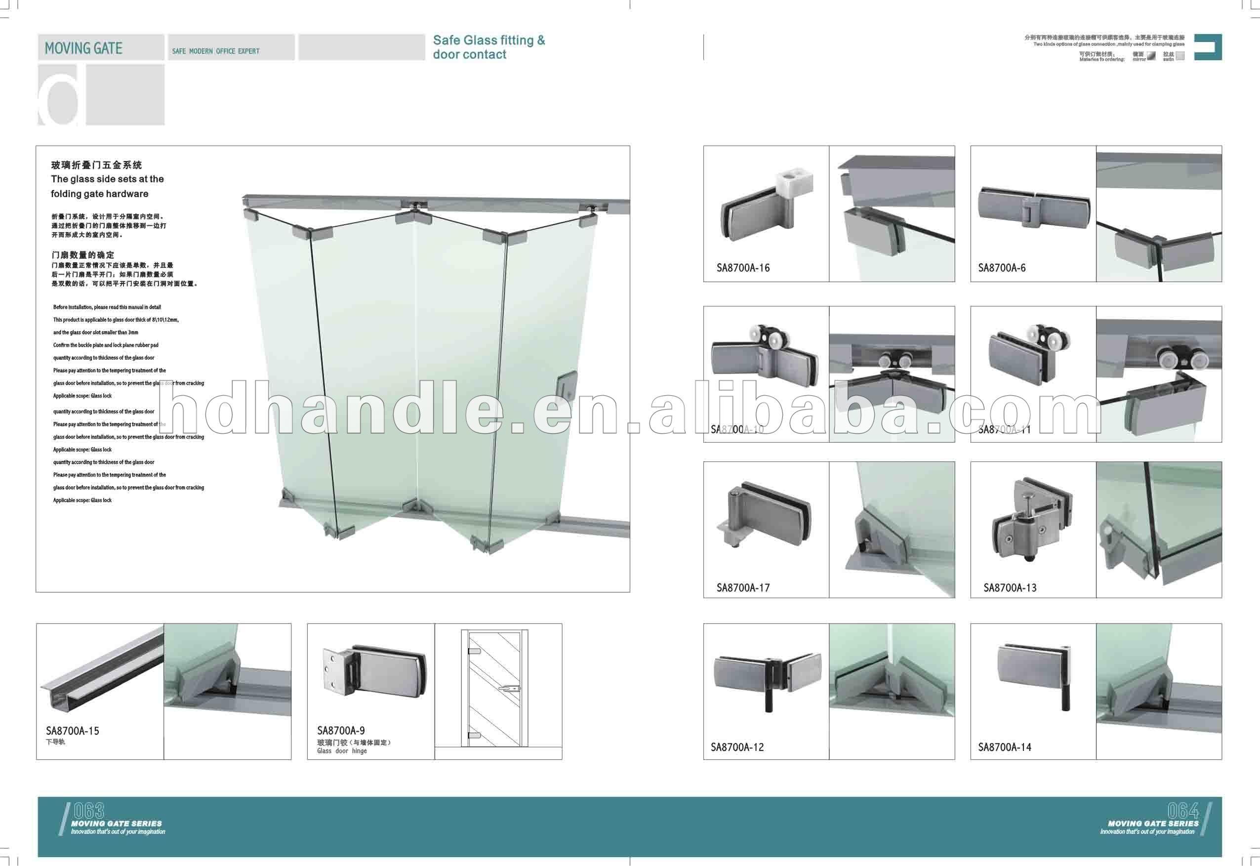#3E808C   dobrável porta de vidro Outros acessórios de porta e janela  286 Janelas De Vidro Sanfonadas