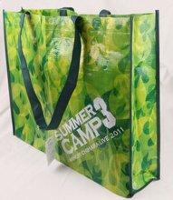 120GSM PP Woven Fabric Eco Green PP Woven Shopping Bag