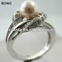 2012 latest fashion pearl ring designs