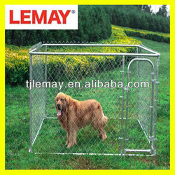 7.5' x 7.5' x 4' metal chain link galvanized steel dog kennel