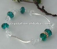 Blue custom shamballa bracelet