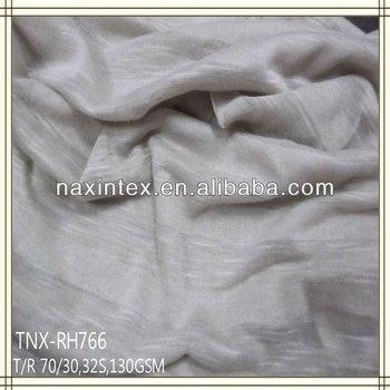 stripe jersey plain dyed poly jarquard fabric