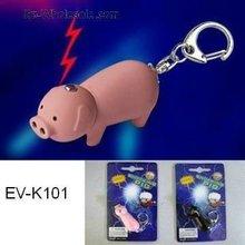 LED Pig shape keychain keyring promotion gifts--factory directly