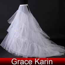 Grace Karin Hot Sale High Quality Long Train Wedding Petticoat CL2709