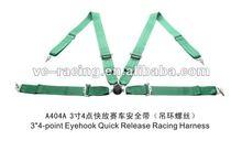 2012 Hot Selling FIA 2017 Homologation Eyebolts 3 inch harness security belt