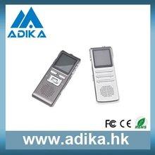 8 GB gravador de voz jogos com tampa de Metal e tela ADK-DVR8816