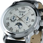 Ess Brand New Mens White Dial 6 Hands Self-Wind UP Mechanical Watch WM186