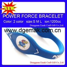 2012 Power Force Silicone College Team Bracelet-KANSAS JAYHAWKS