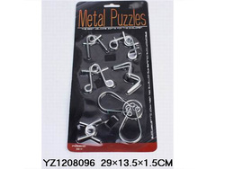 2015 Top Selling Metal Magic Interlocking Rings metal puzzles brain teasers