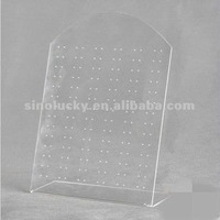 Transparent acrylic earring counter display/counter display for earring