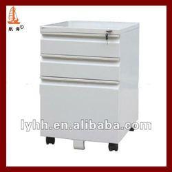 Best-Selling white coated decorative 3 drawer steel mobile pedestal