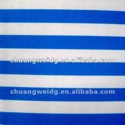 stretch blue and white stripe fabric for sportswear