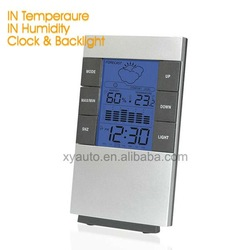 Desktop Weather Station Multi Function LCD Clock with Backlit