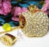 100% full capacity jewelry diamond usb flash drive(without upgrade)