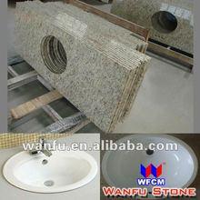 2012 New style granite stone vanity tops double sinks