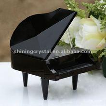 black crystal piano model for souvenir gift