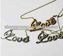 fashion love word pendant necklace