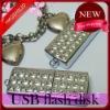 Love Heart crystal jewelry 8gb usb flash drives---512gb usb