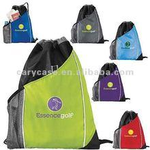 Sidecar Drawstring Pack with mesh bottle bag