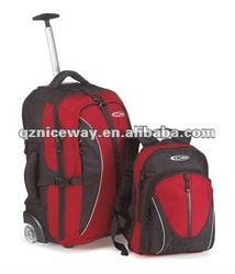 1680D Fabric Sport Trolley Travel Bags With Backpack