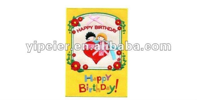 Doğum günü nakış tebrik kartı/sevgili hediye nakış tebrik kartı/el yapımı doğum günü tebrik kartları