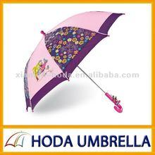 Purpel heat transfer printing umbrella for kids