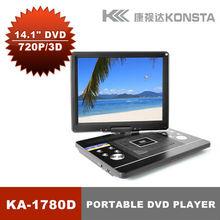Color TFT LD 15 inch Portable DVD Player with ATSC FM VGA USB SD Game KA-1780D