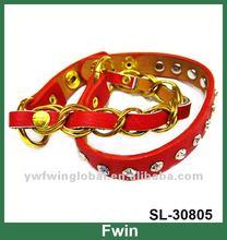 New fashion gold leather wrap bracelet, plain leather bracelet 2012