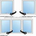 upvc de vidro swing janela de desenho