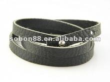 2012 newest pu leather wrap bracelet with cross