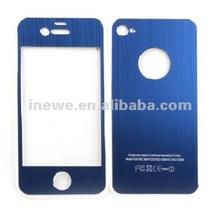 for iPhone 4/iPhone 4s aluminum skin sticker