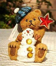teddy bear figurine/resin teddy bear christmas gifts