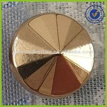Gold color cone shape shirt button
