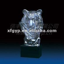 Lion head ,crystal animal trophy heads