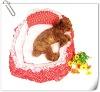 Red Dot Pet Bedding with pillow pet supplies