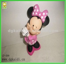 Cute Minnie Mouse Action Figure , Hot sale custom Vinyl 3d Mickey mouse figure toy