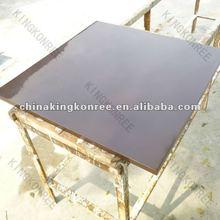 Kingkonree brown marble top dining table / pool table