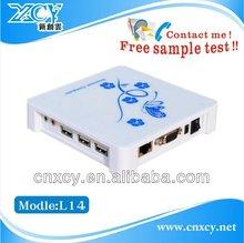 Cheapest wireless win CE6.0 virtual desktop mini pc XCY L-14 specialized in school