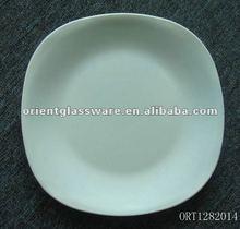 plain white ceramic plate