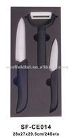 2015 Fashion High Quality Kitchen Ceramic Knife Set with Peeling