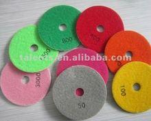 diamond wet polishing pads/ grinding pads for stone polishing